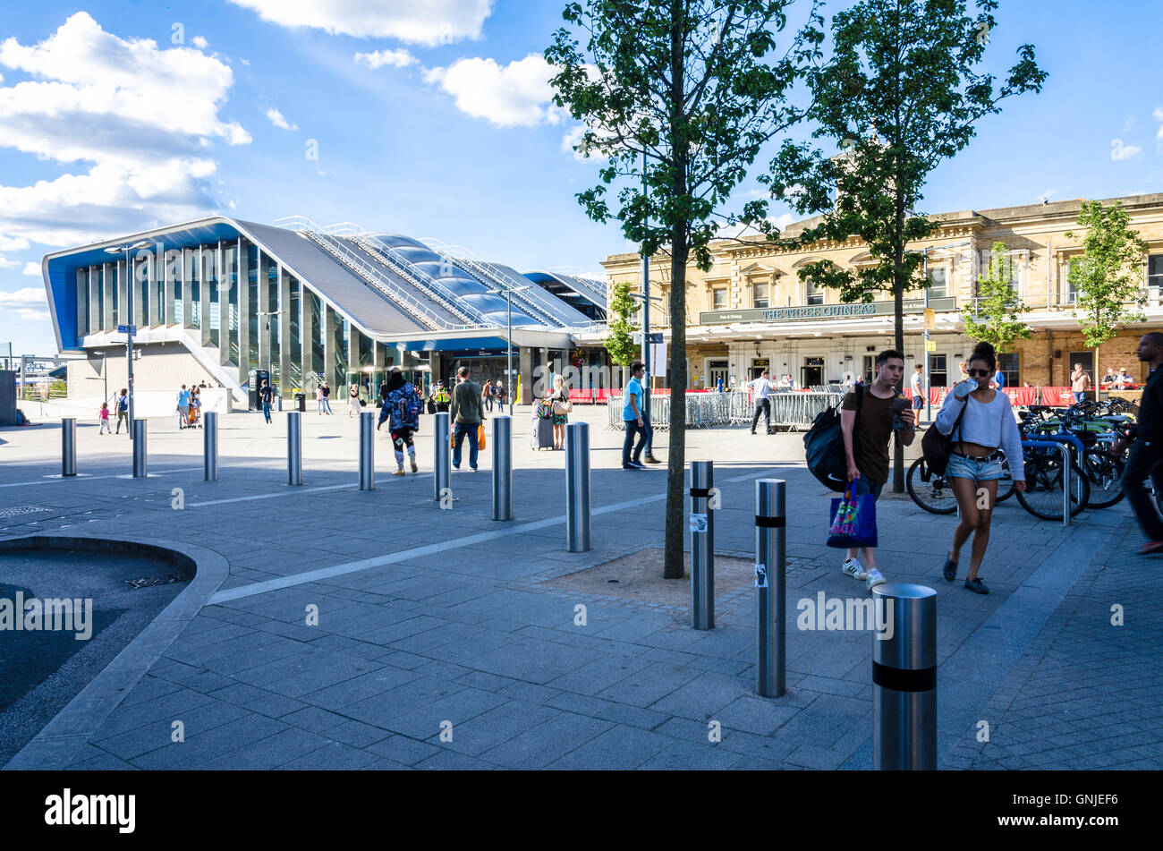 A view of Reading railway station. Stock Photo