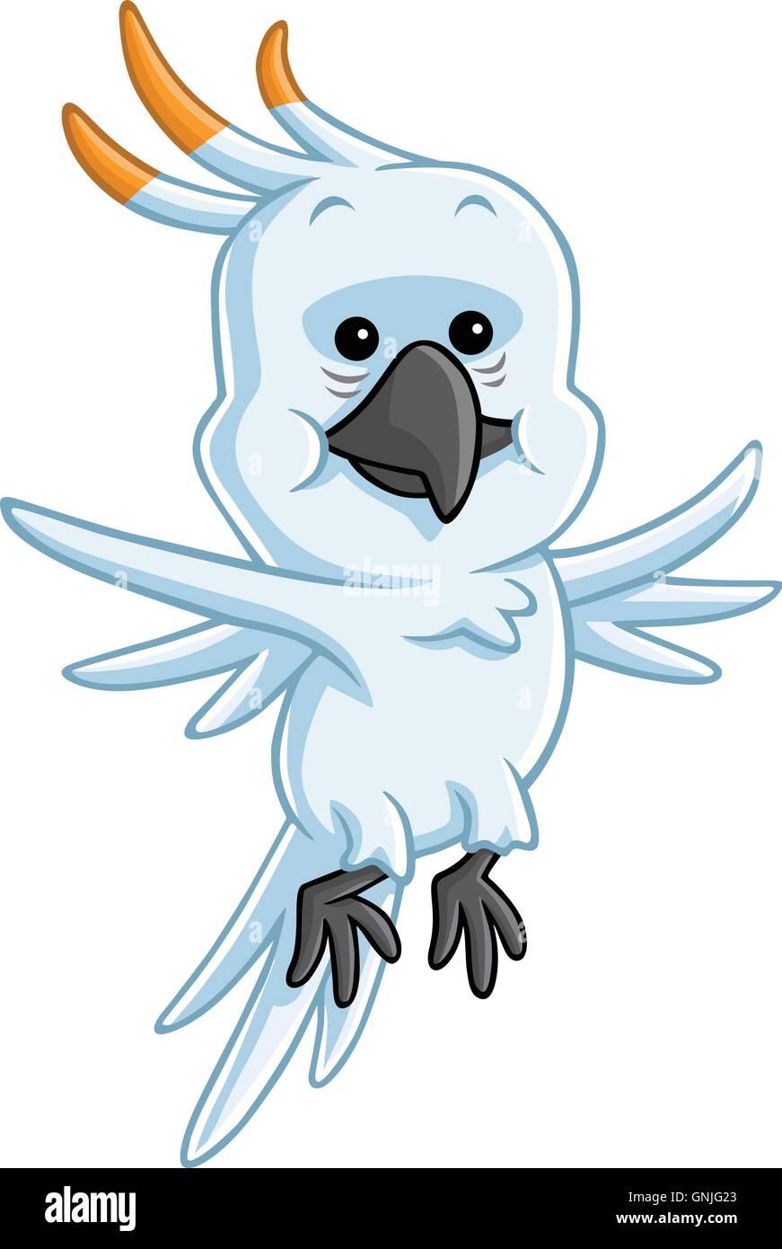 Cockatoo Cartoon Vector - Stock Vector
