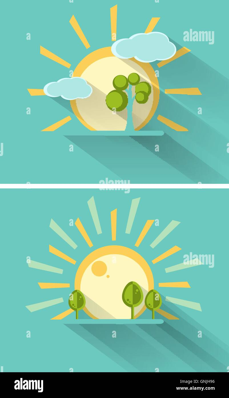 vector summer design - Stock Vector