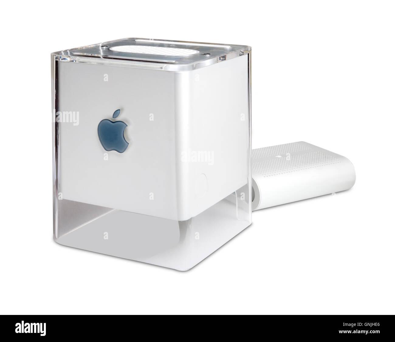 Apple Mac G4 Cube Computer - Stock Image