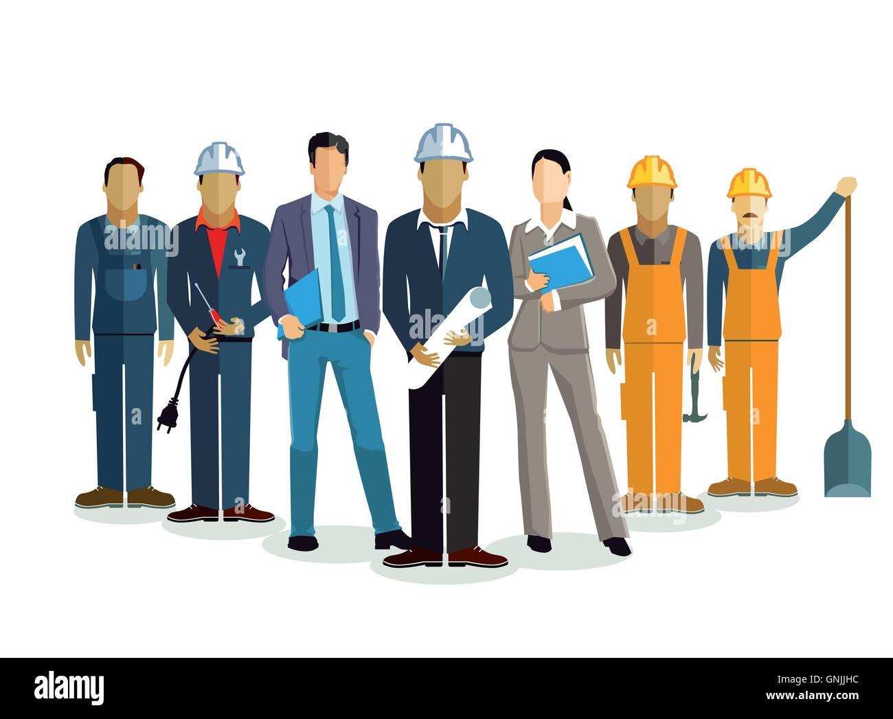 Architekt team, Bau Projekt - Stock Image