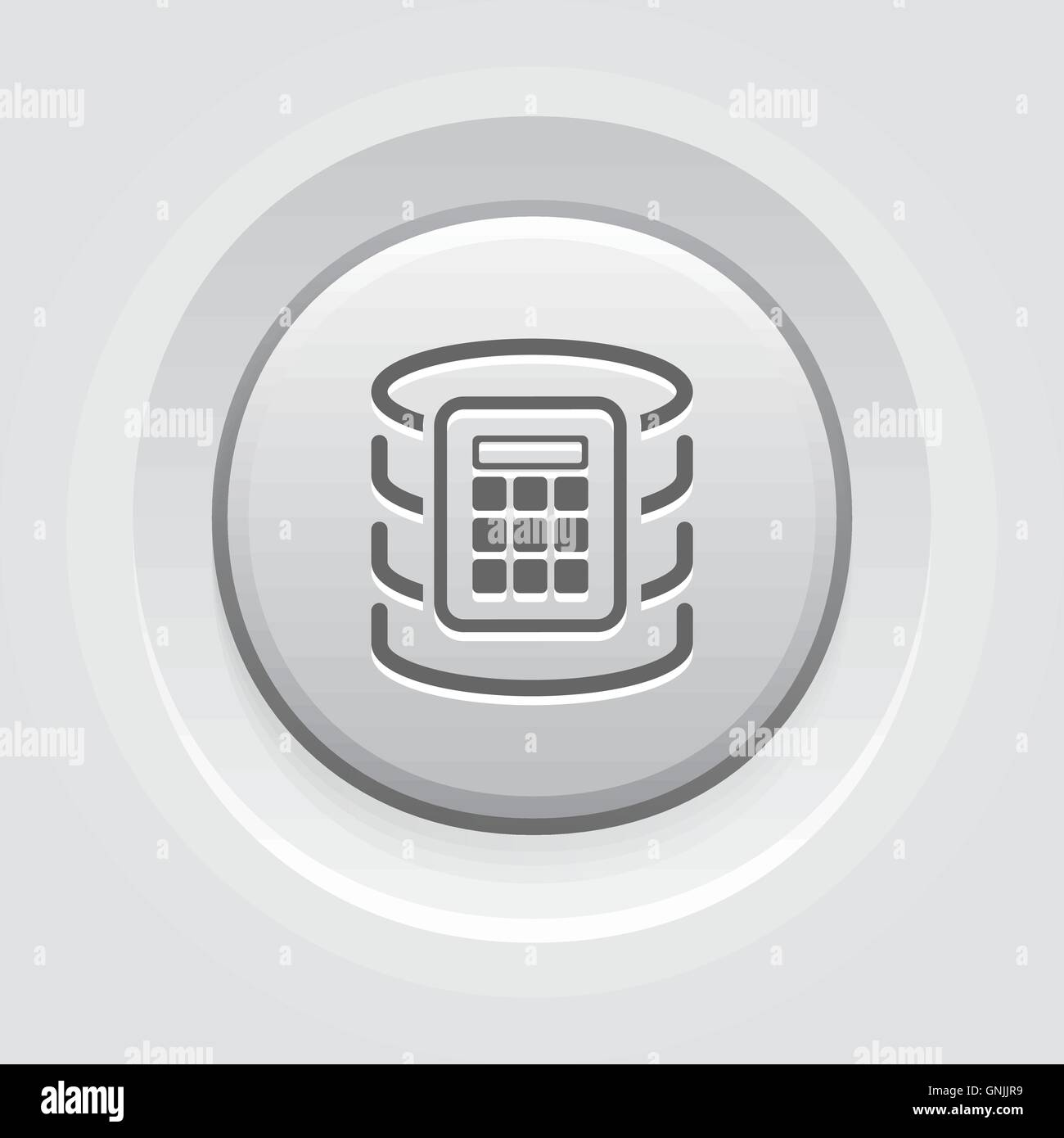 Secure Database Icon. - Stock Image