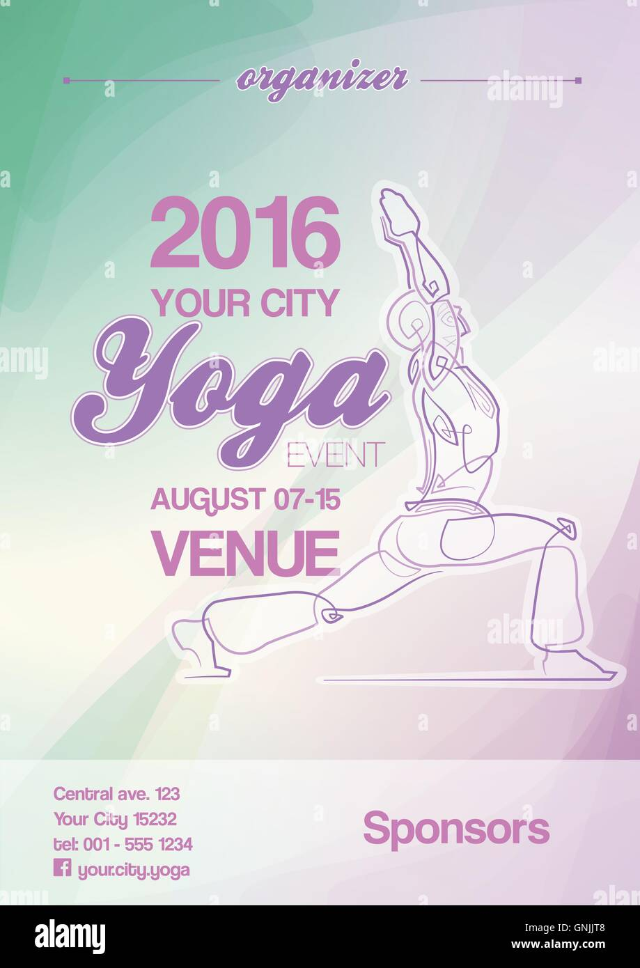 Yoga Event Poster Blue Green Purple