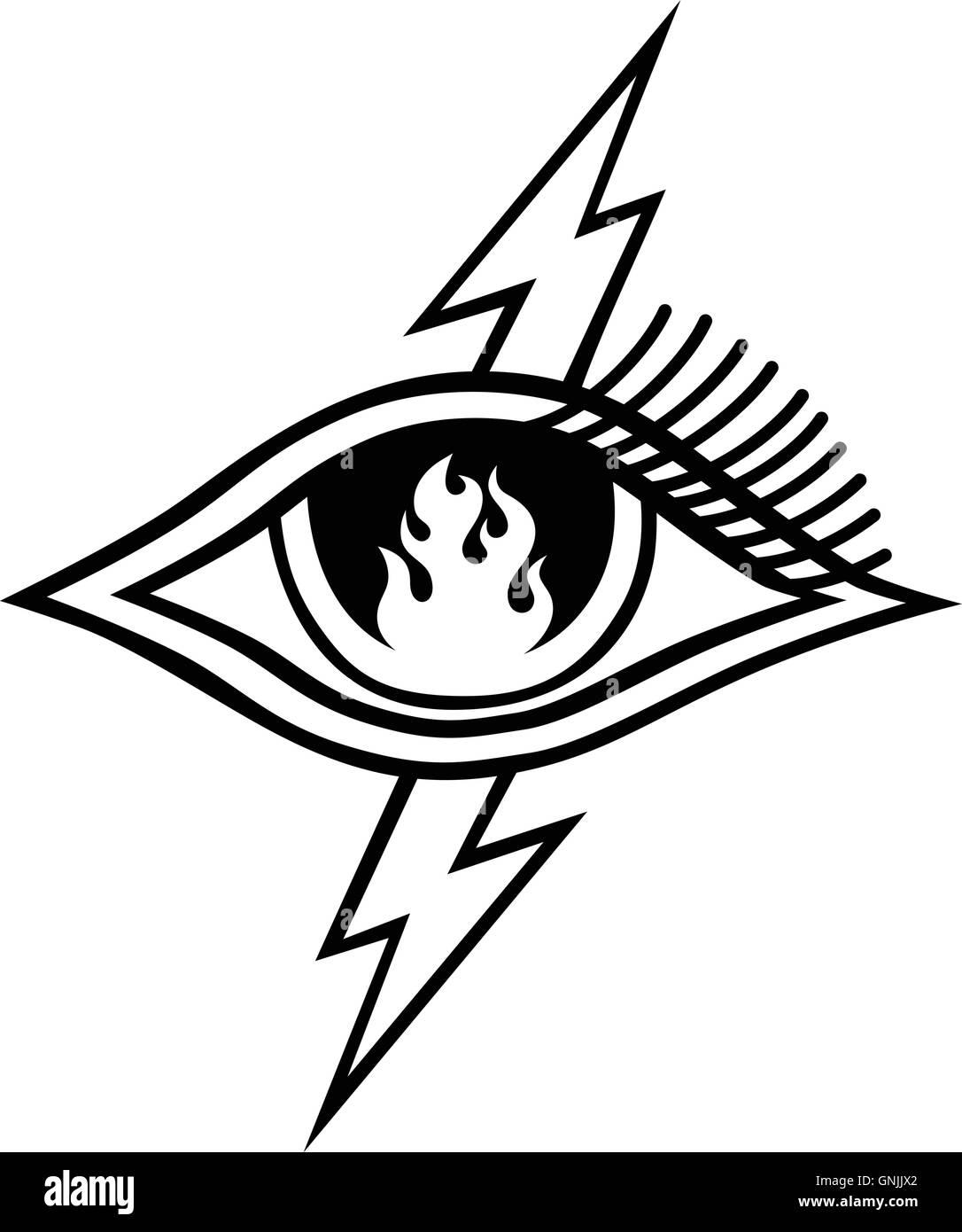 Flame Eye Symbol Theme Stock Photos Flame Eye Symbol Theme Stock