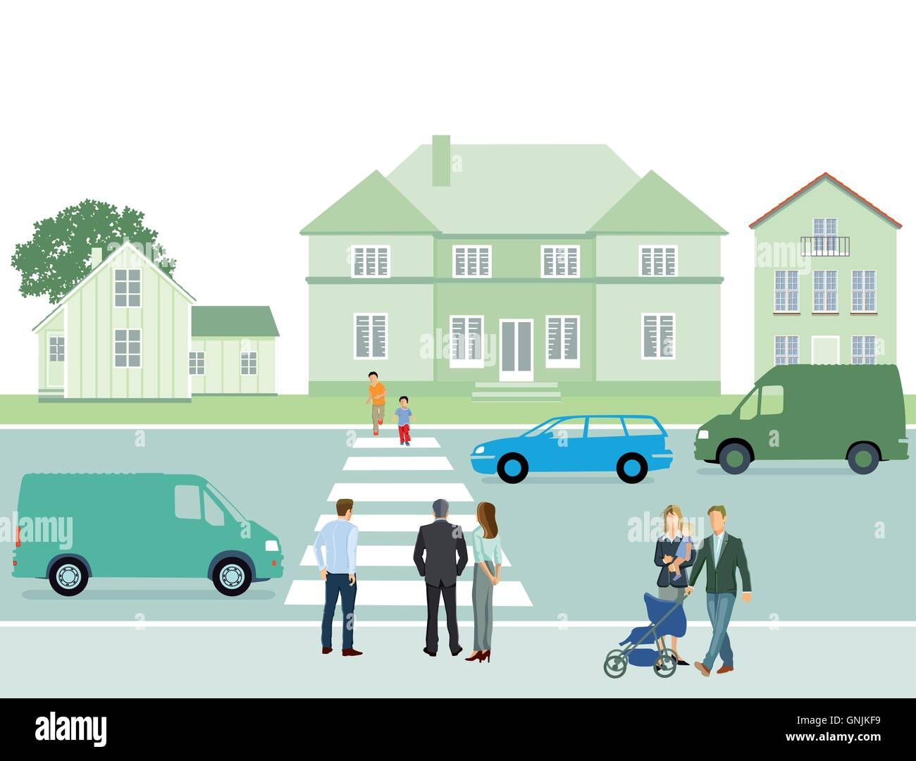 Pedestrian crosswalk - Stock Image