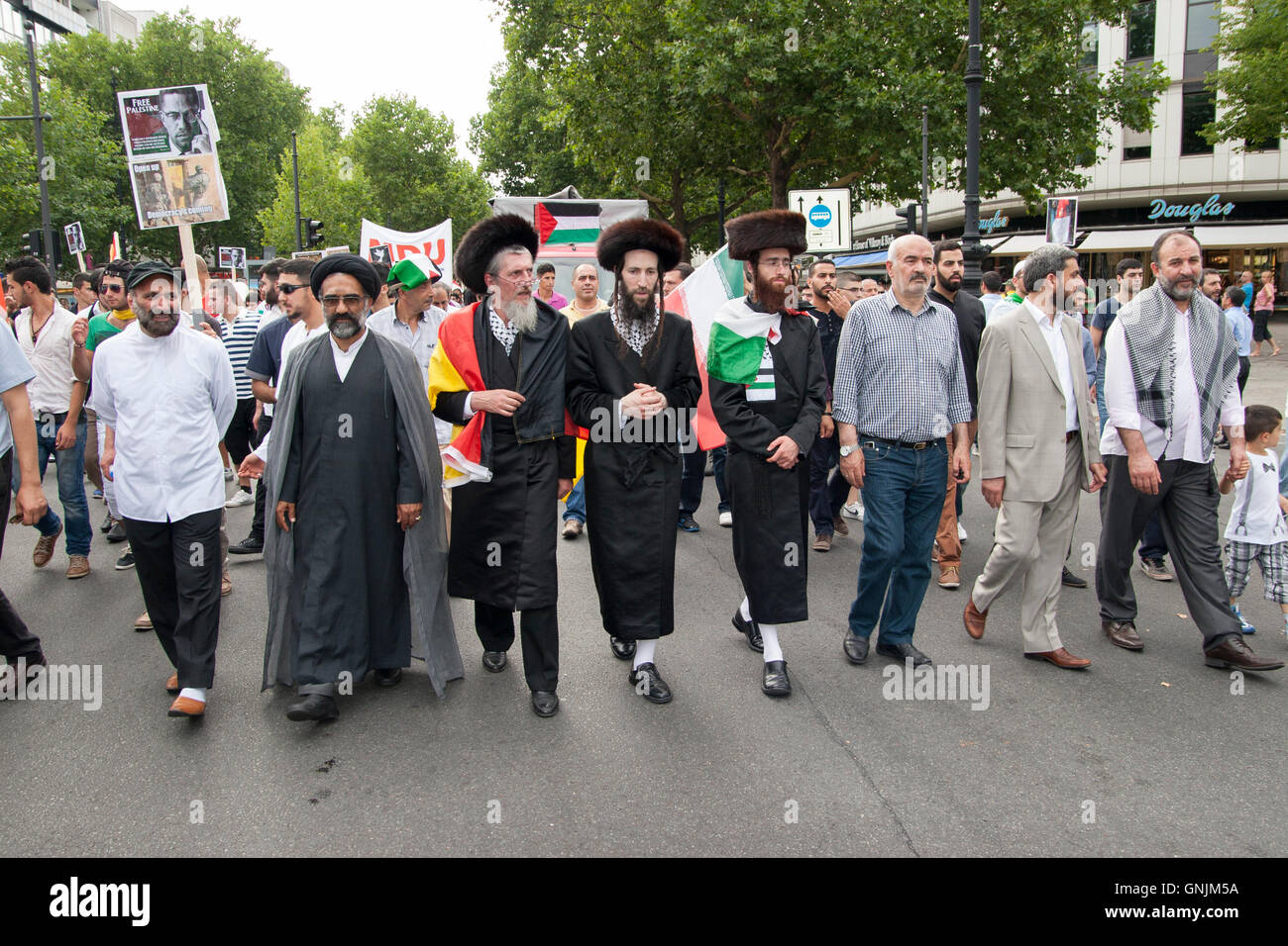 Al-Quds Day 2013 in Berlin. Germany. - Stock Image