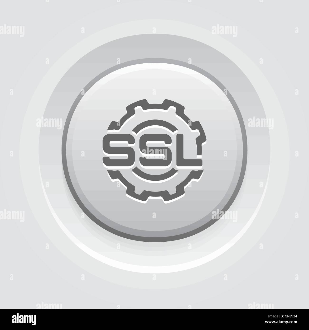 SSL Settings Icon. Flat Design. - Stock Image
