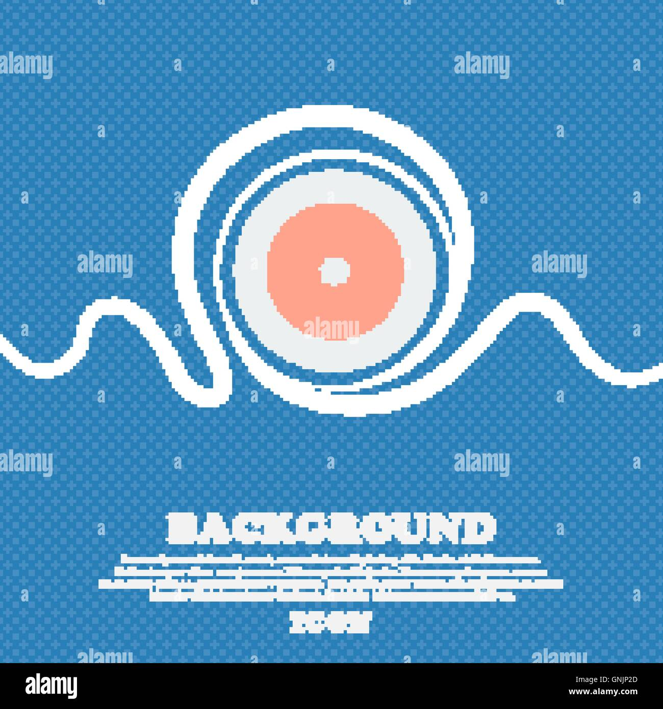 diaphragm icon. Aperture sign. Blue and white abstract background flecked with space for text and your design. Vector - Stock Vector