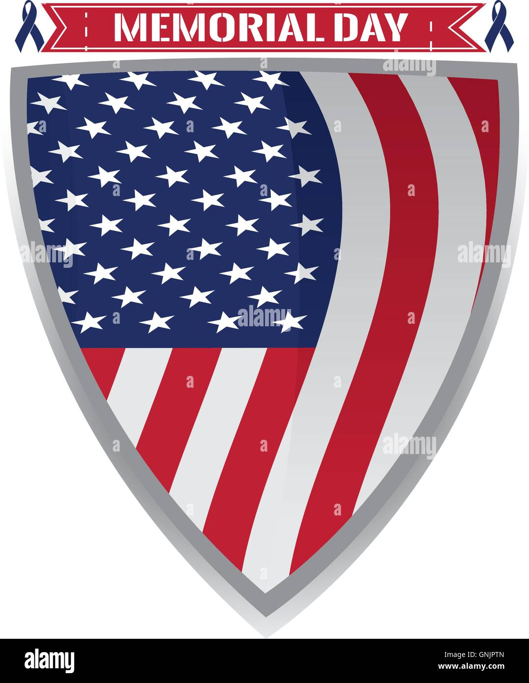 Isolated Heraldry Shield With The American Flag A Pair Of Peace