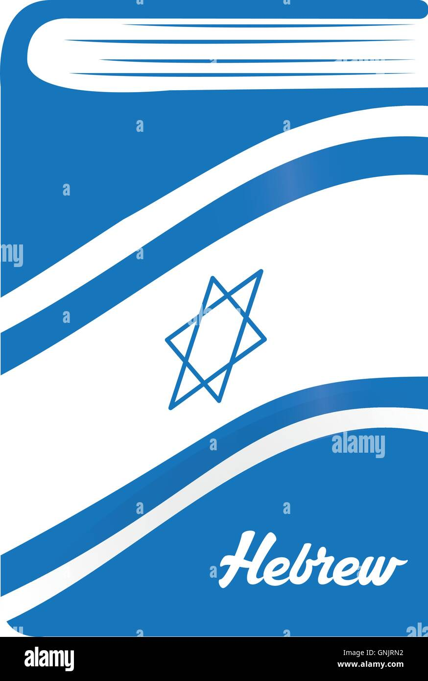 Isolated dictionary with the flag of israel and text - Stock Image