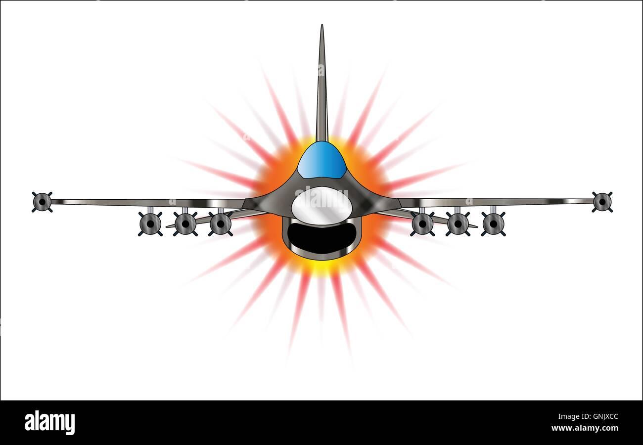 Modern Jet Fighter Stock Vector