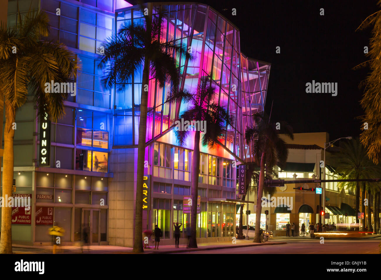 Equinox South Beach >> Miami Beach Florida Fifth Street Stock Photos Miami Beach