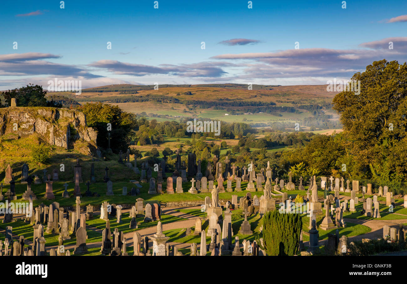 Church of the Holy Rude Graveyard adjacent to Stirling Castle, Stirling, Scotland - Stock Image