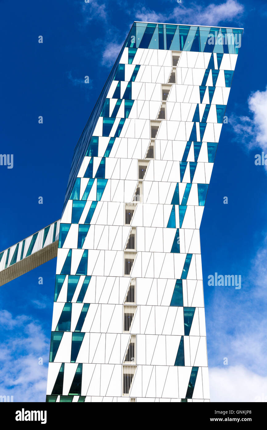 Danish twin towers of AC Hotel Bella Sky Hotel - Marriott - and Comwell Conference Centre, Copenhagen, Denmark - Stock Image