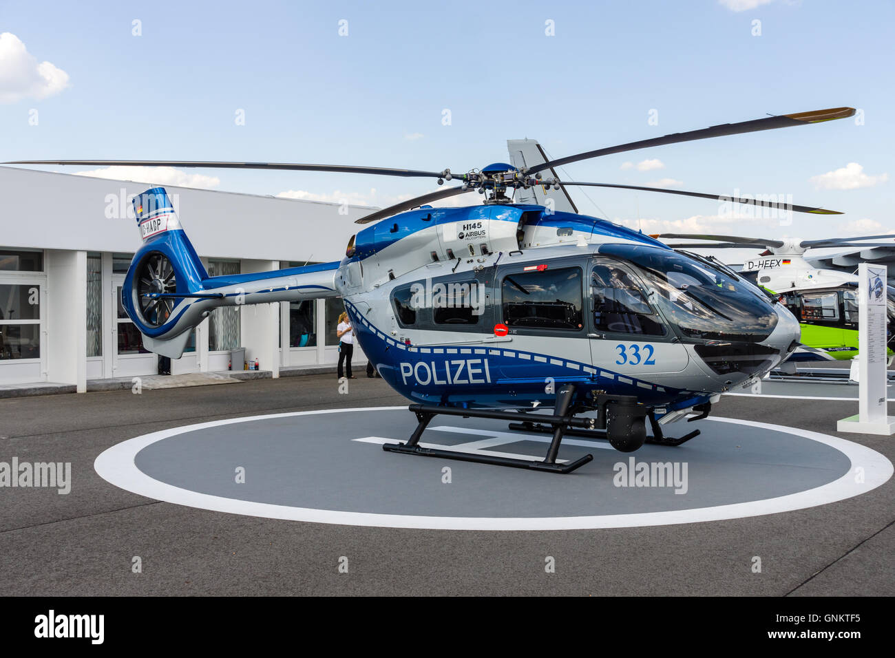 Medium utility helicopter Airbus Helicopters H145 of the German State Police. - Stock Image