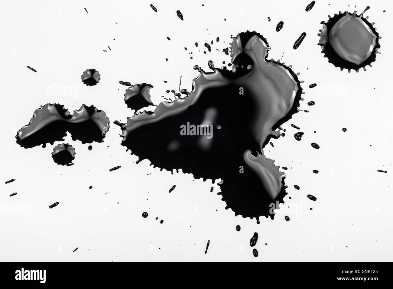 Black ink stains - Stock Image
