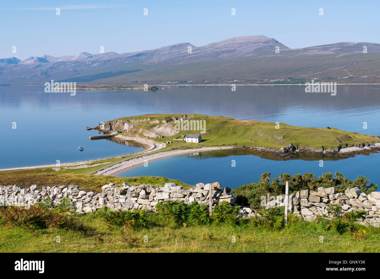 View of Loch Eriboll in Highland, part of North Coast 500 tourist route in north coast of  Scotland , United Kingdom - Stock Image