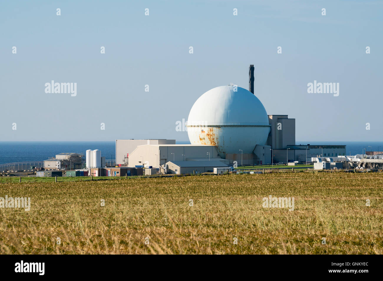 Dounreay nuclear power station on north coast of Scotland at Caithness, United Kingdom - Stock Image