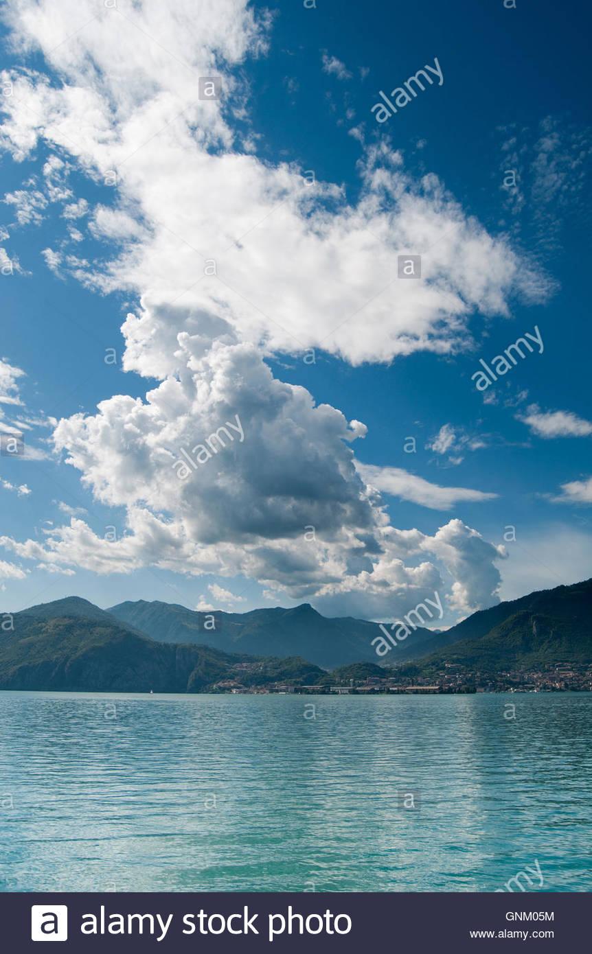 Lake Iseo, Lombardy, Italy - Stock Image