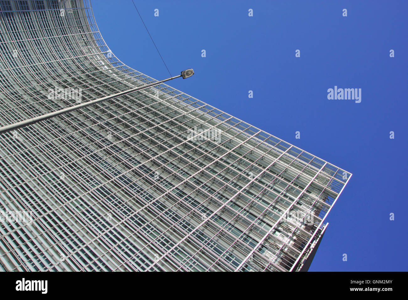 European Commission, Le Berlaymont building, Brussels, Belgium - Stock Image