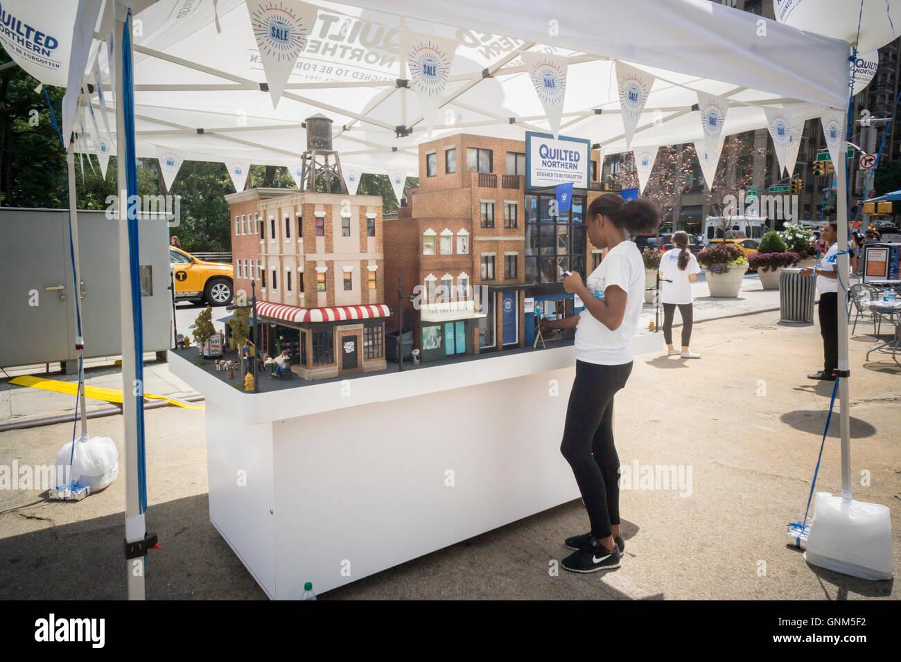 A diorama of New York in Flatiron Plaza by Georgia-Pacific brand ...