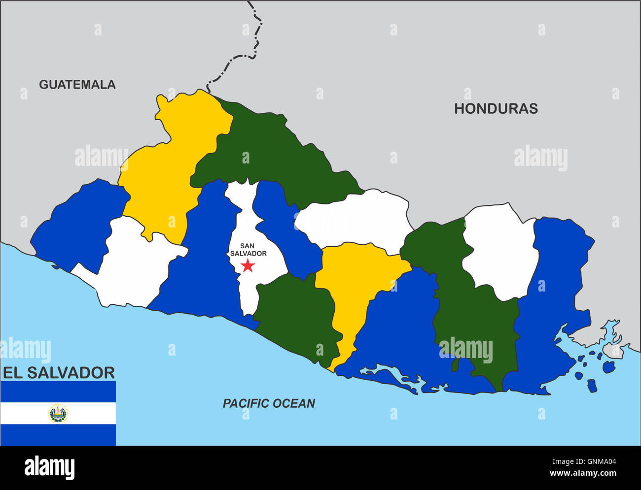 el salvador map Stock Photo: 116616868 - Alamy on georgetown on world map, costa rica on world map, el salvador map, cuba on world map, tenochtitlan on world map, recife on world map, panama on world map, tegucigalpa on world map, cabinda on world map, bahamas on world map, altamira on world map, santiago on world map, port of spain on world map, la habana on world map, salvador brazil on world map, arenal volcano on world map, santo domingo on world map, monterey world map, sanaa on world map, conakry on world map,