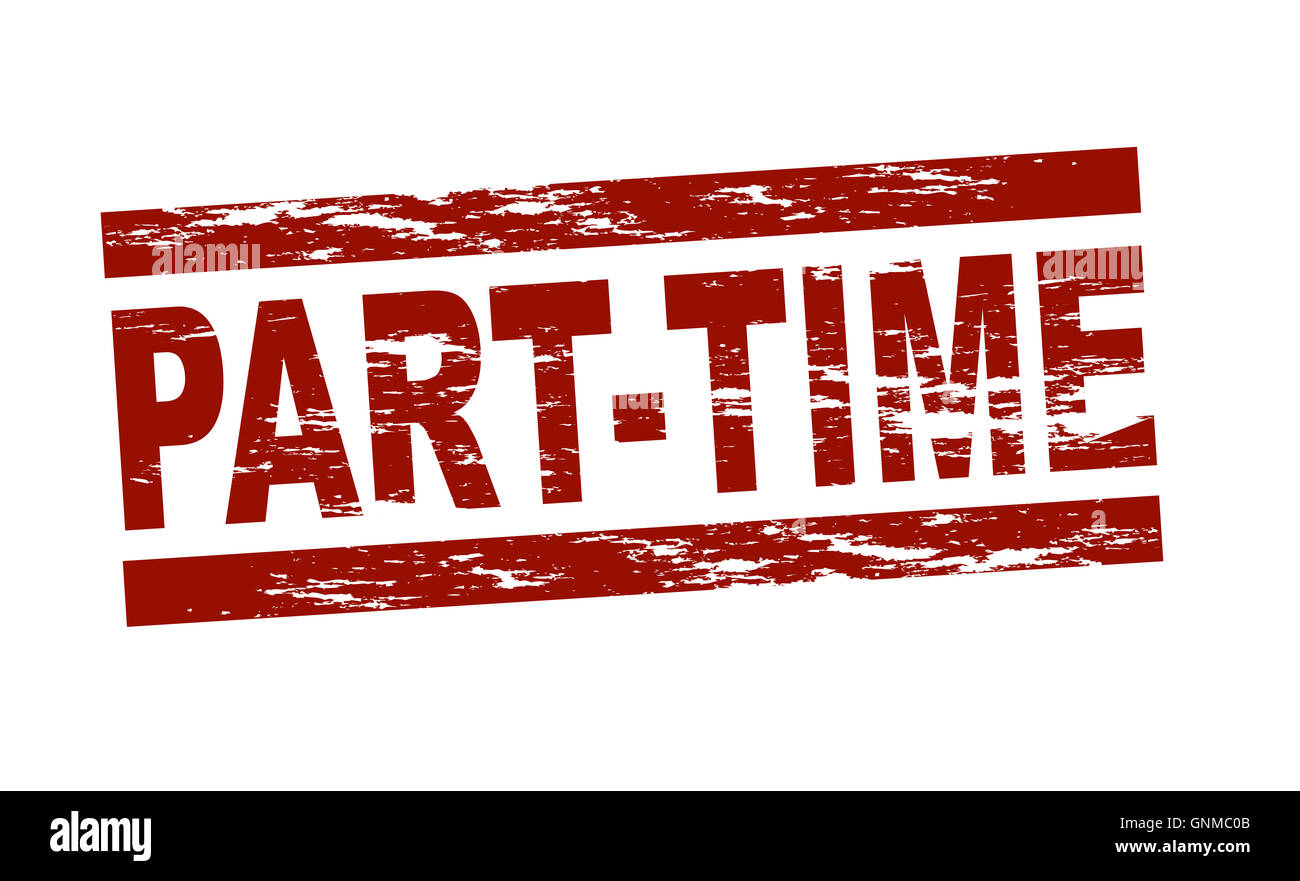 Stamp - part time - Stock Image