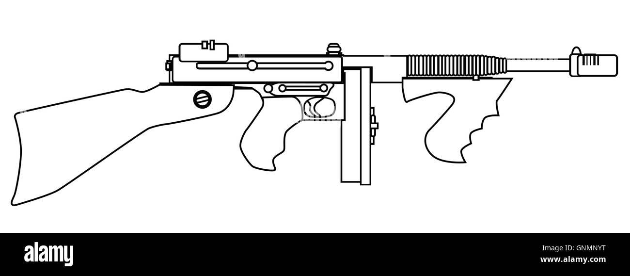 Gangster Tommy Gun Stock Photos & Gangster Tommy Gun Stock