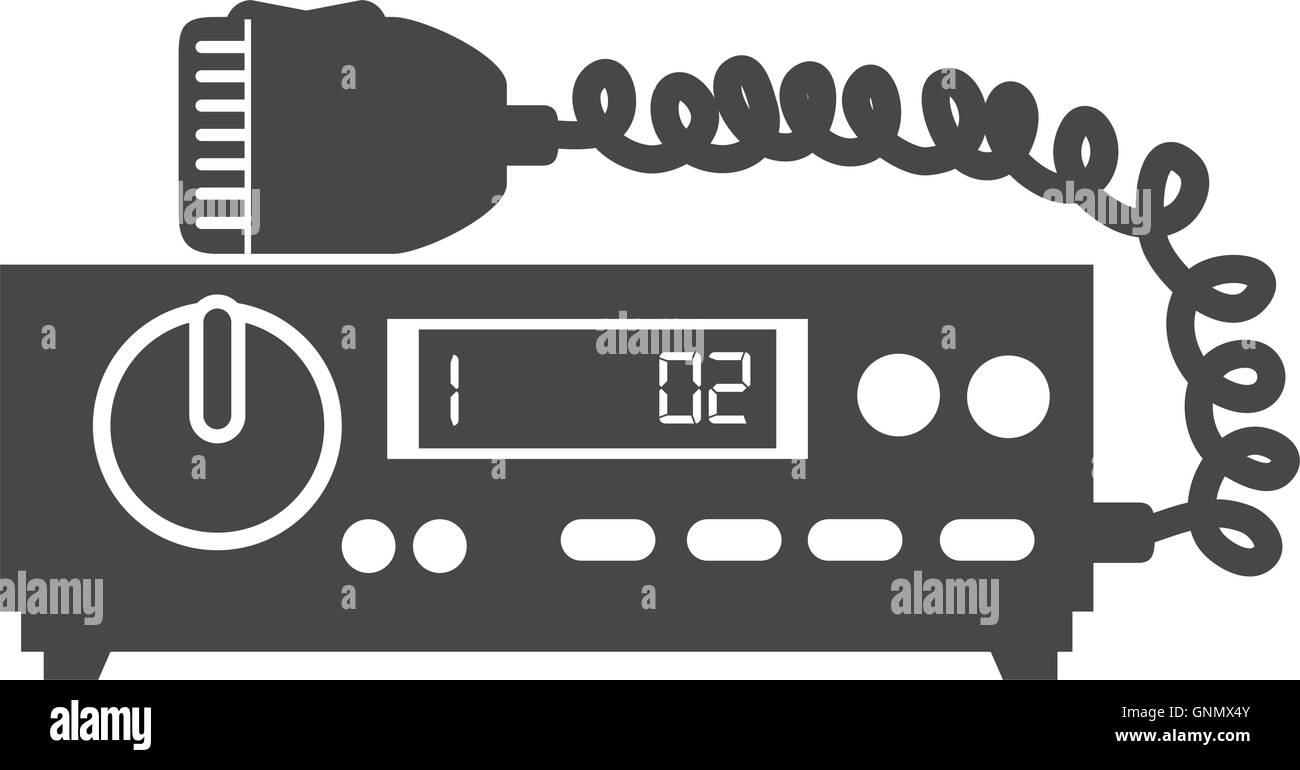 radio taxi equipment Stock Vector Art & Illustration, Vector Image