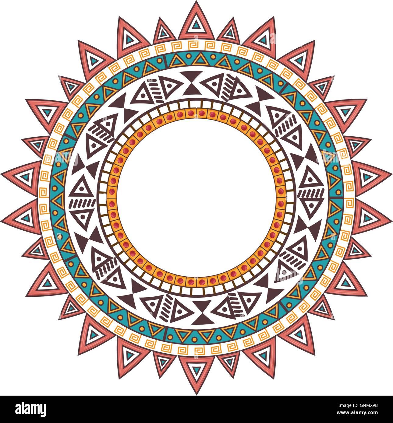 boho native mandala decoration - Stock Image