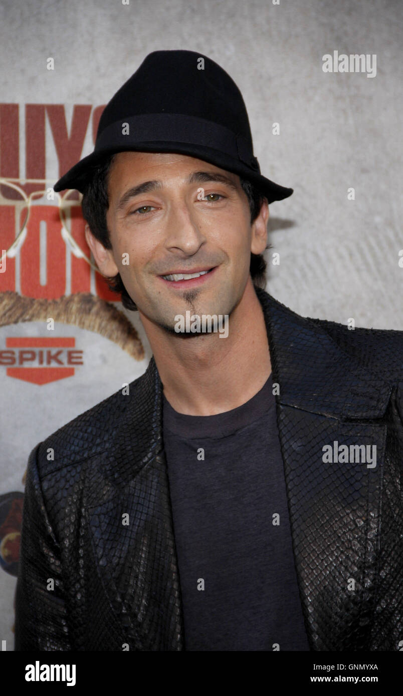 Adrien Brody at the 2010 Guys Choice Awards held at the Sony Pictures Studios in Culver City, California, United - Stock Image