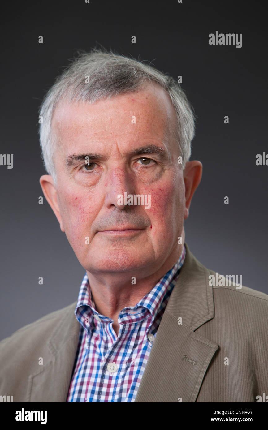 Trevor Royle, the military historian and author, at the Edinburgh International Book Festival. Edinburgh, Scotland. - Stock Image