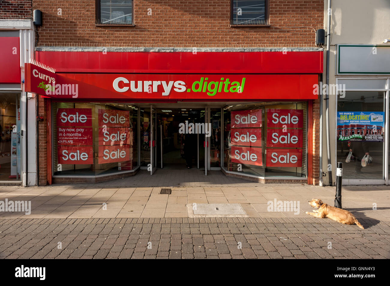 A branch of Currys Digital on George Street Hove - Stock Image