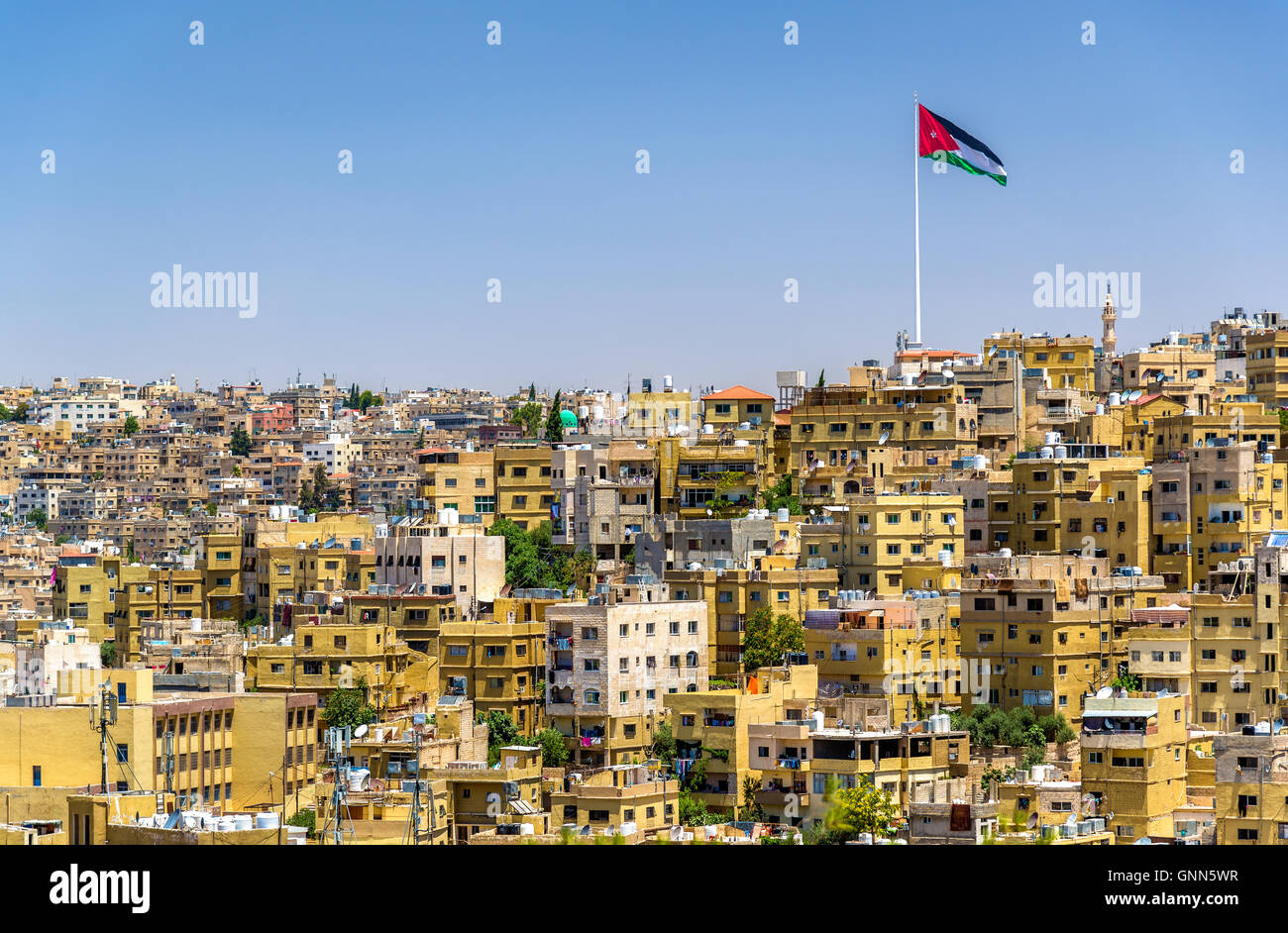 Cityscape of Amman, Jordan Stock Photo