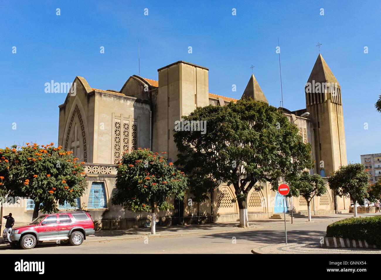 Cathedral of Lubango, Angola / Lubango was Sa da Bandeira until 1975. - Stock Image