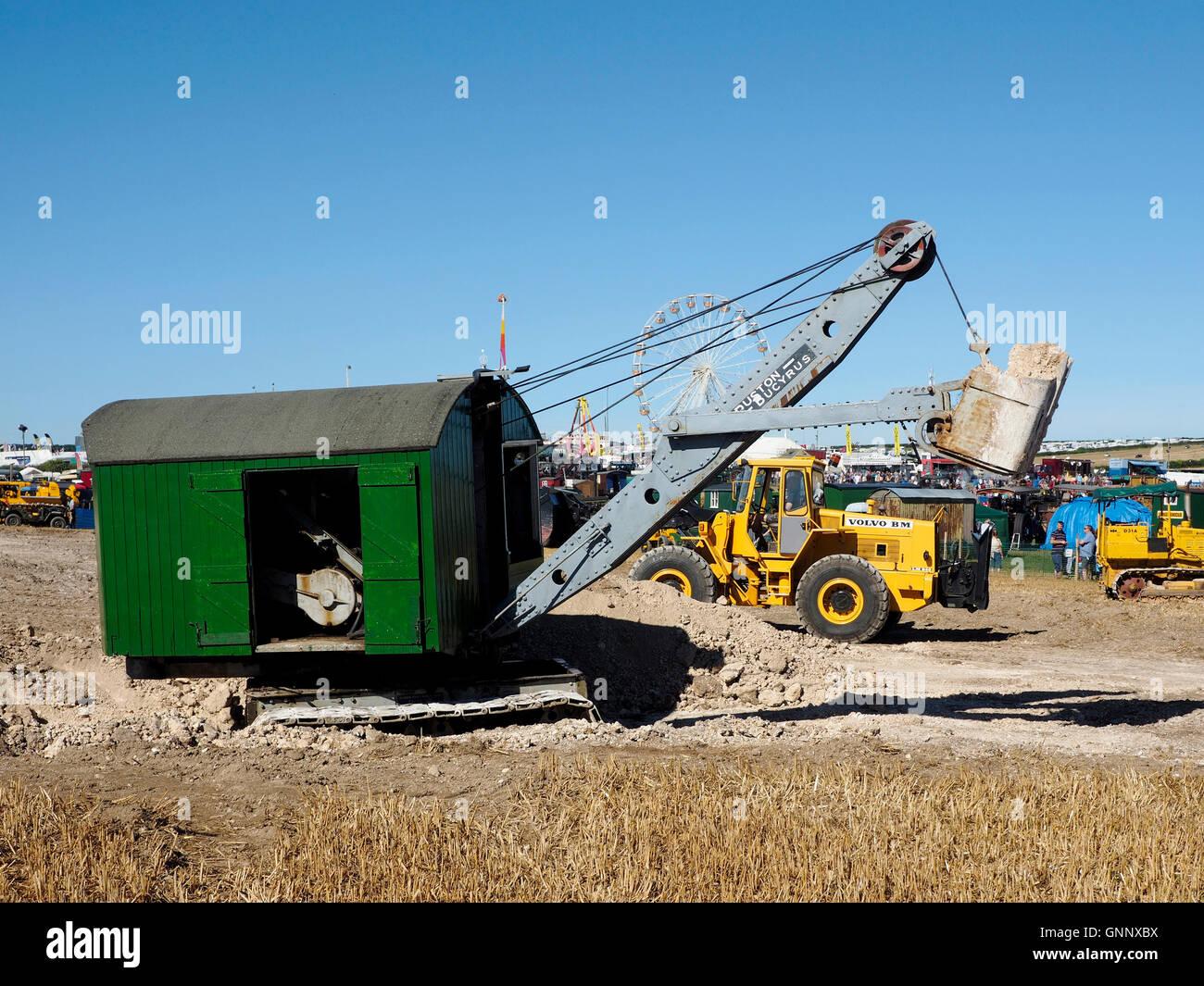 Ruston-Bucyrus No4 front shovel excavator of 1931 at Great Dorset Steam Fair 2016 - Stock Image