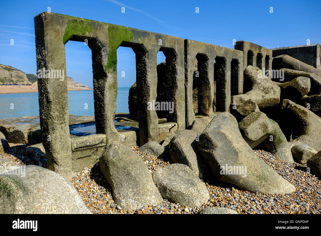 Hastings WW2 Sea Defence - Stock Image