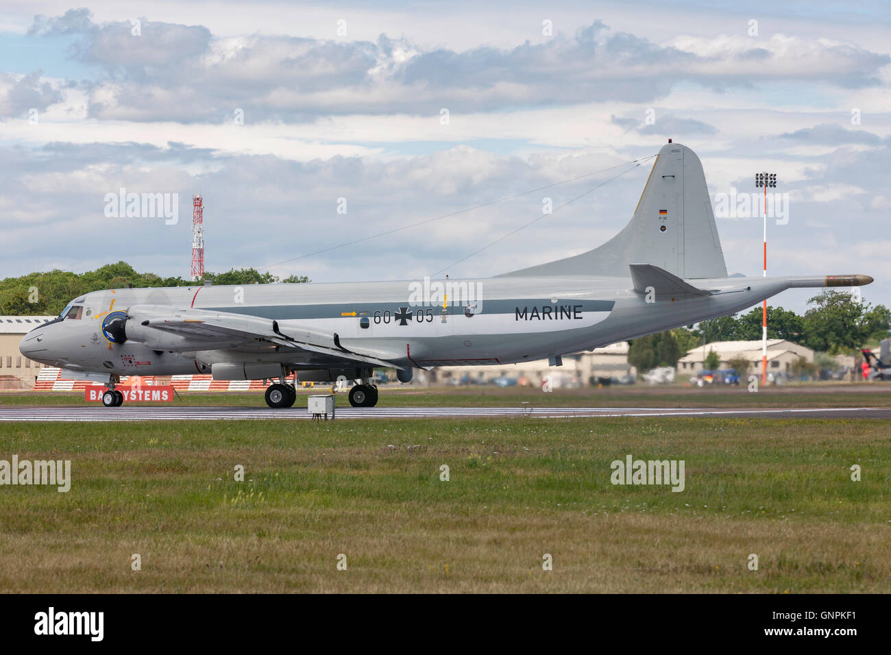 German Navy (Deutsche Marine) Lockheed P-3C Orion maritime patrol and surveillance aircraft. - Stock Image