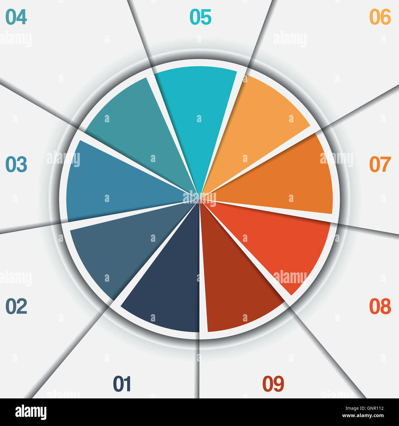 Infographic Pie Chart Template From Colorful Circle With Text Areas
