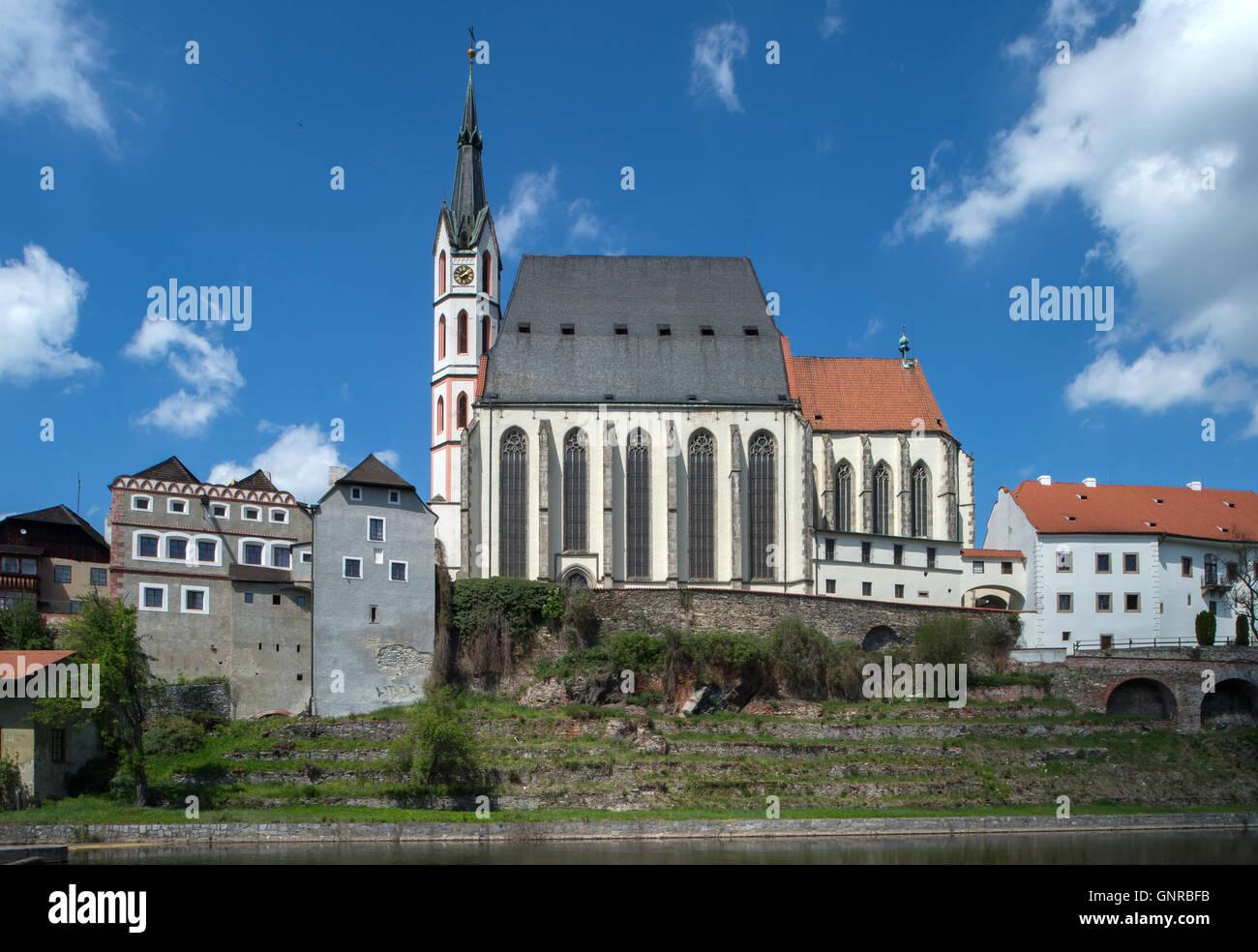 Cesky Krumlov, Czech Republic, overlooking the St  Vitus