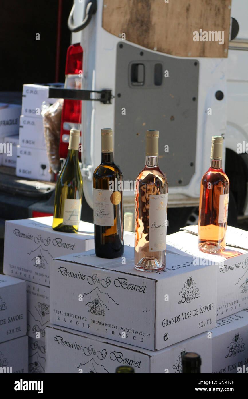 Foire aux Vins in Notre Dame de Bellecombe - Stock Image