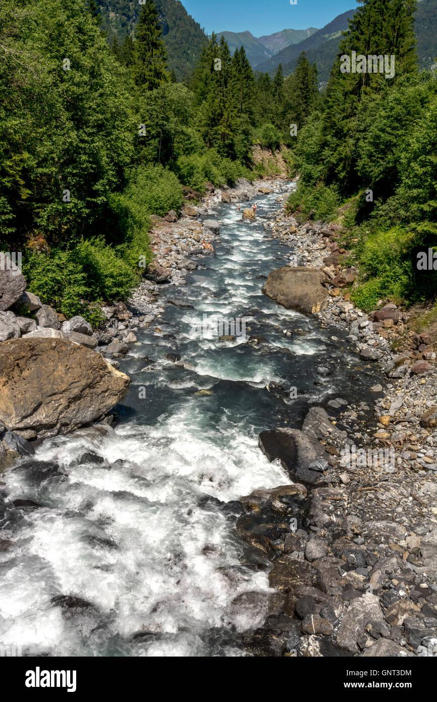 Sixt-fer-a-Cheval near Samoens, Torrent Gers. Haute-Savoie. France. Europe - Stock Image