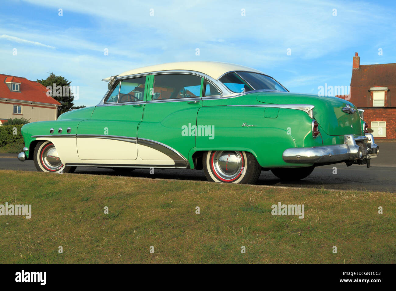 Buick Eight Super, iconic vintage U S A, American automobile, motorcar car saloon 1950s historic cars motorcars - Stock Image