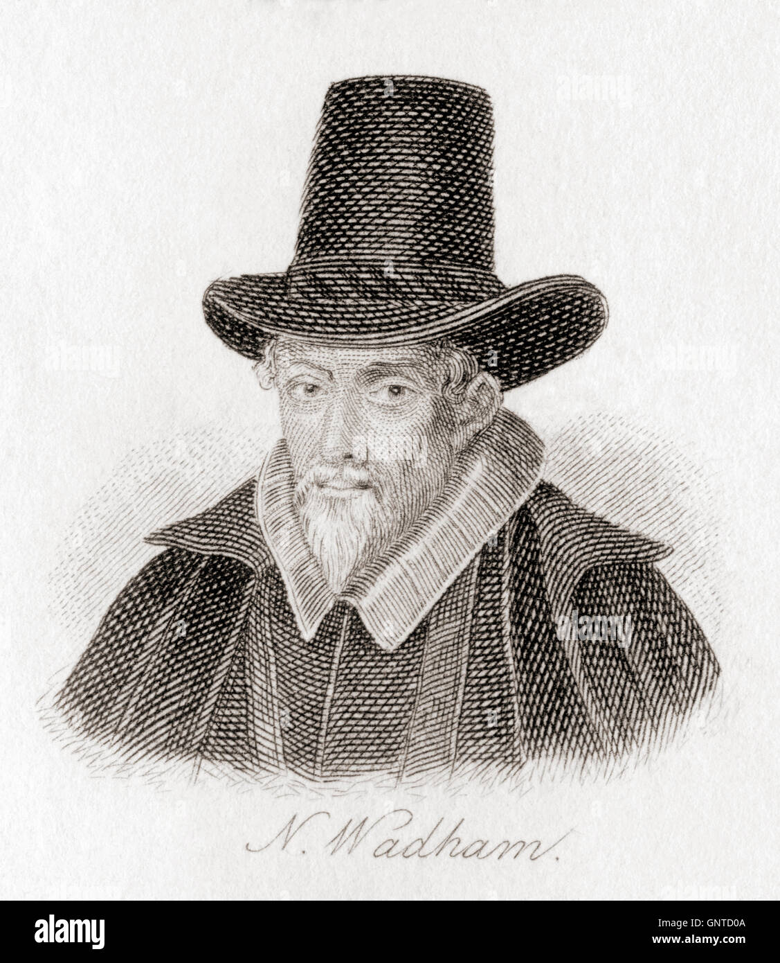 Nicholas Wadham Esquire, c.1531/1532 – 1609.  Posthumous co-founder, with his widow Dorothy Petre, of Wadham College, Stock Photo