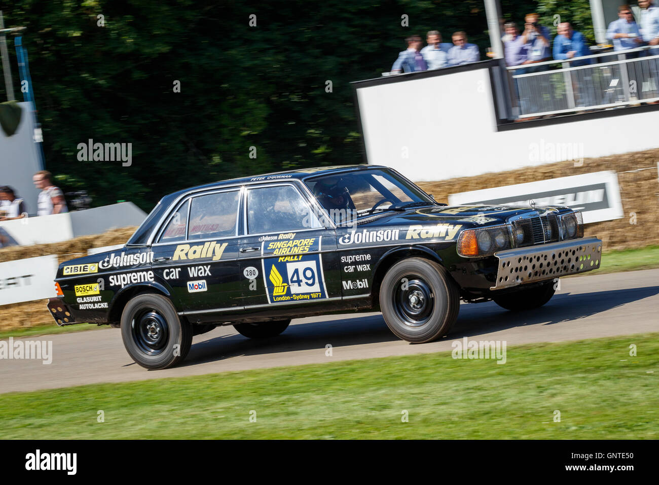 1977 Mercedes-Benz 280E rally car at the 2016 Goodwood Festival of ...