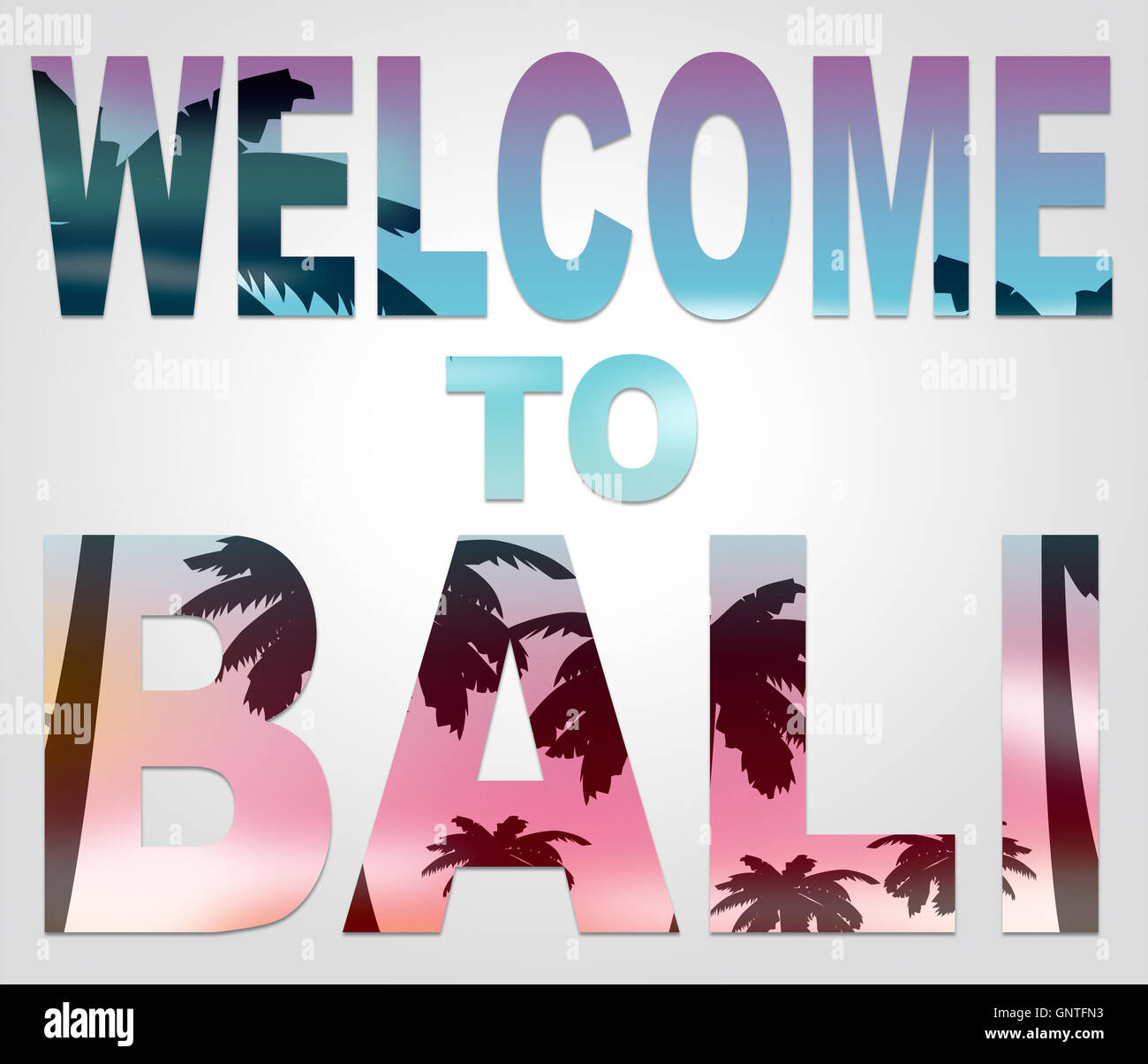Welcome to bali meaning holidays arrival and greetings stock photo welcome to bali meaning holidays arrival and greetings altavistaventures Choice Image
