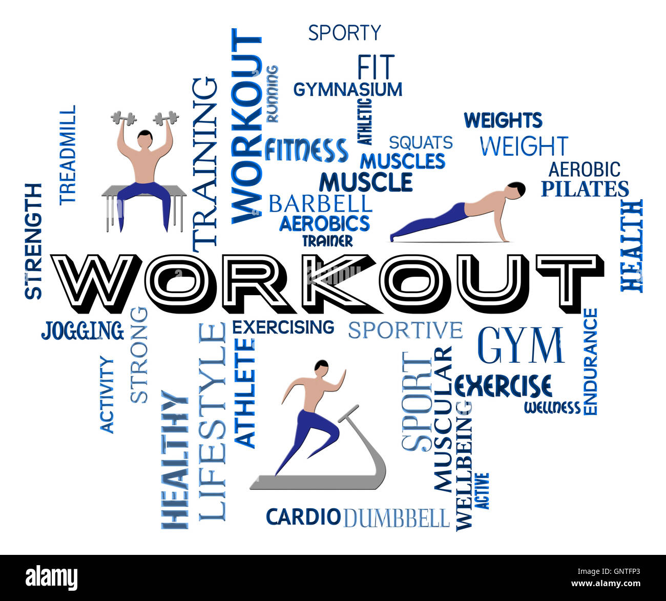77d00022b5f Workout Fitness Meaning Getting Fit And Training Stock Photo ...