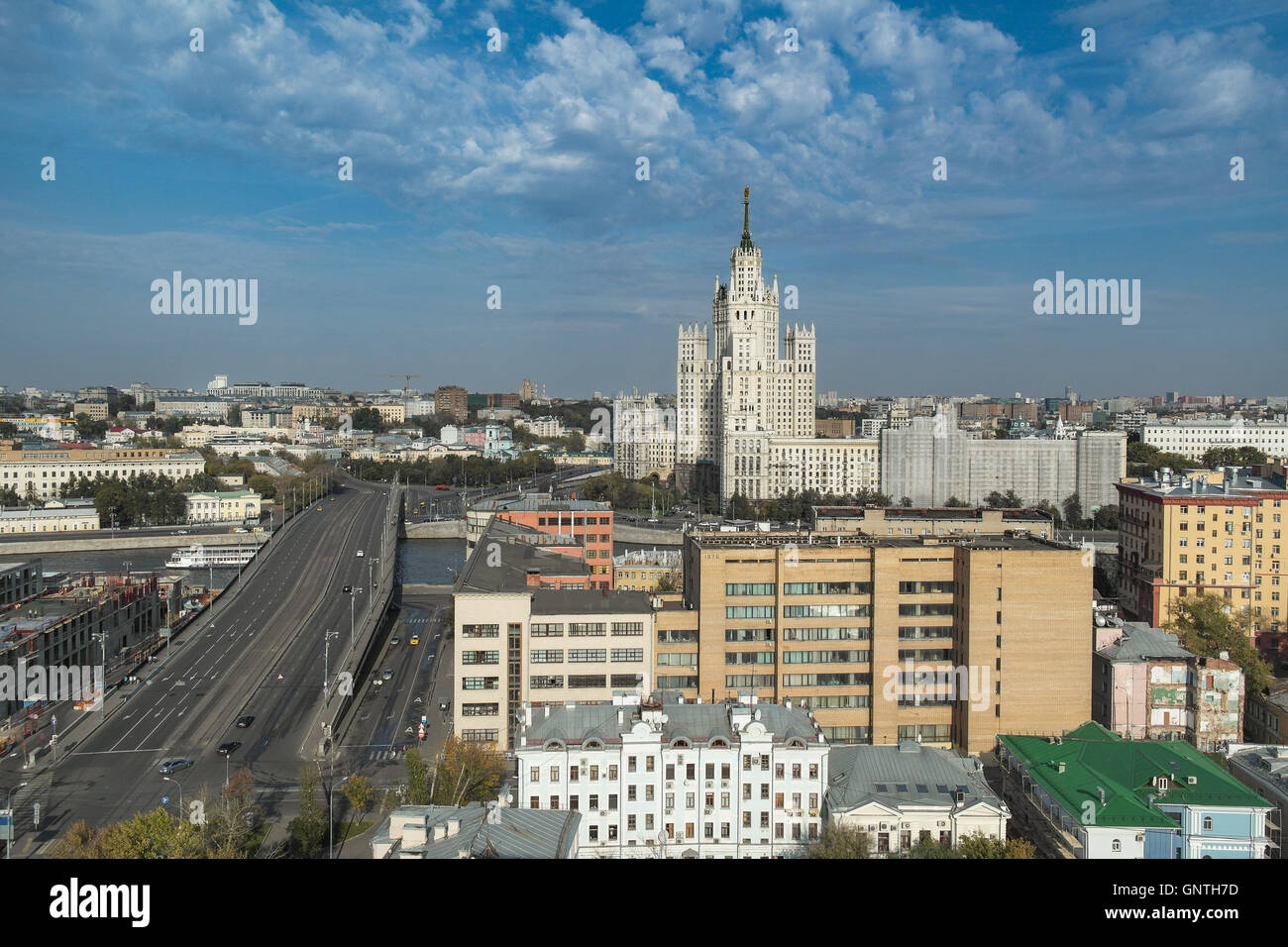 Stalin Skyscraper is one of Seven sister buildings of the Stalin Era in Moscow - Russia Stock Photo