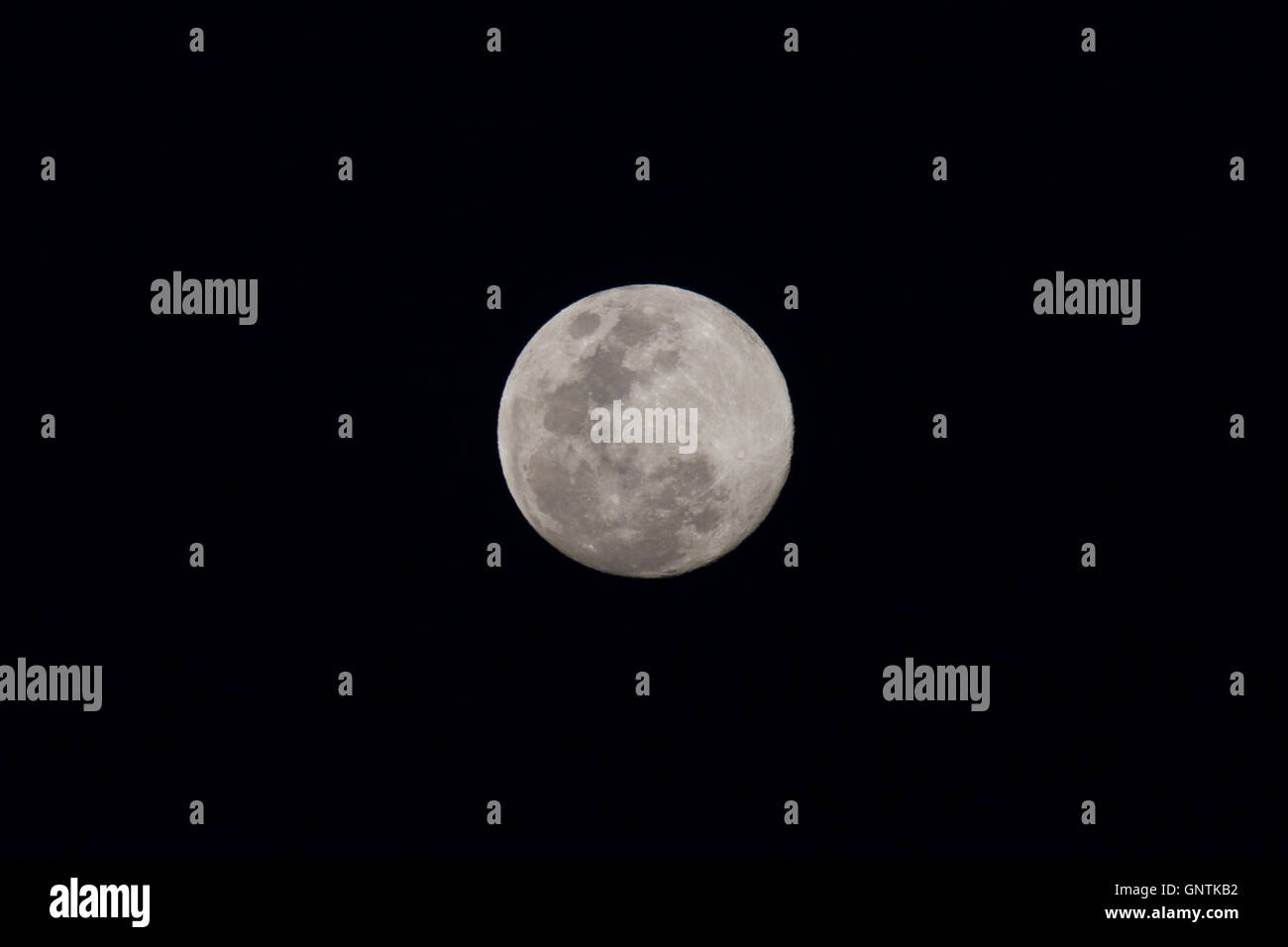 Full moon from southern hemisphere. - Stock Image