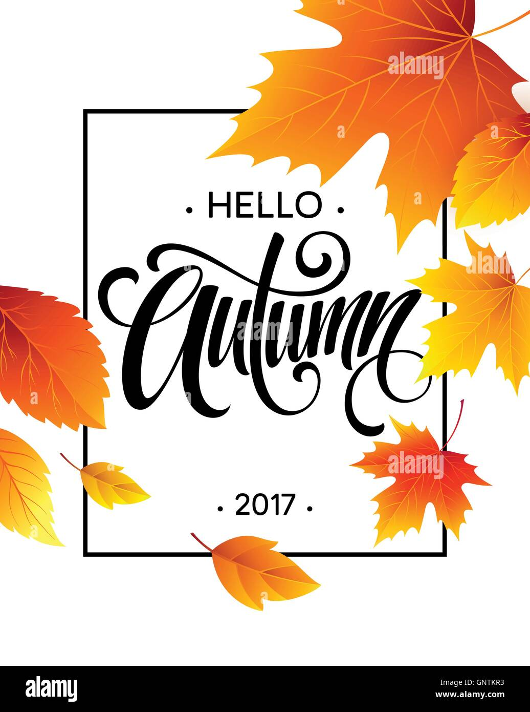 Autumn calligraphy. Background of Fall leaves. Concept ...